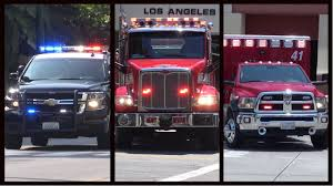 Fire Trucks, Police Cars And Ambulances Responding - Compilation 2 ...