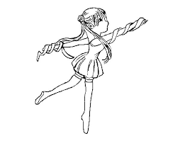Gymnastics Girl Sailor Moon Rhythmic Colouring Page