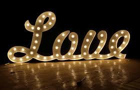 custom wedding letters marquee signs metal vintage light