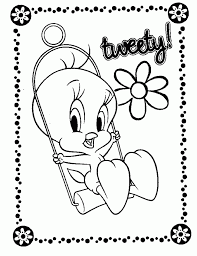 Printable Tweety Bird Coloring Pages For Kids Pictures Baby Nest Page Animal