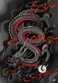 Japanese Dragon Jimjazdeviantart Art