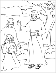 Majestic Design Jesus Disciples Coloring Page Appears To His