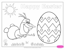 Frozen Easter Coloring Page