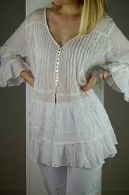 white indian cotton voile u0027pirate blouse u0027 summer top u2013 kobomo