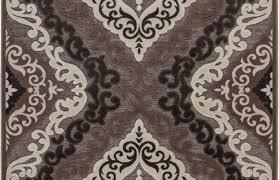 tapis de bureau personnalisé tapis à motifs baroque brun marron jericho pas cher