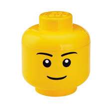 Amazoncom LEGO Storage Head Large Boy Yellow Room Copenhagen