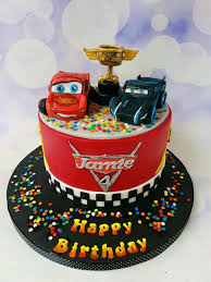 Cars 3 cake for a 4yr old cake by Jenny Dowd CakesDecor