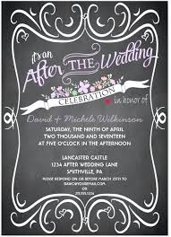 Post Wedding Reception Invitations Templates