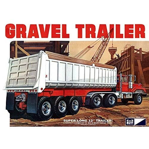 MPC 3 Axle Gravel Trailer 823 Plastic Model Kit - 1:25 Scale