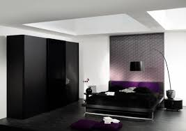 Deep Purple Bedrooms by Black And White Bedroom Designs With Deep Purple Color Home