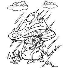 The Cricket Under An Umbrella