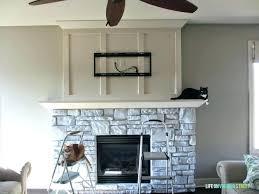 Painted Flagstone Fireplace Whitewash Stone Fireplace Wondrous