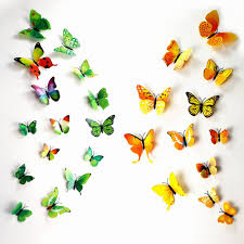 Butterfly Wall Decals Multicolor PVC Wall Stickers For TV Wall