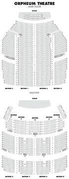 Oriental Theatre Seating Plan