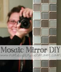Mosaic Bathroom Mirror Diy by Bathroom Mirror Tile Frame Framing Bathroom Mirror With Tiles