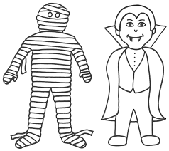 Halloween Vampires Coloring Pages