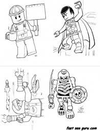 Print Out Lego Super Heroes Coloring Page For Boy