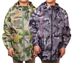 kids rainmac childrens camo raincoat girls boys rain coat