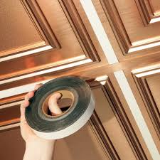 Ceilume Stratford Ceiling Tiles by Ceilume 1 In Wide X 100 Ft Long Roll Deco Tape Faux Tin Self