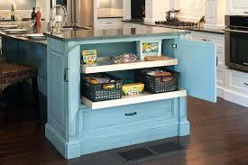 Blue Kitchen Islands Hard Island Cart