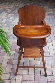 Antique Wood Baby High Chair Chairs Ideas Old Wooden ...