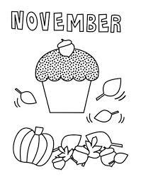 November Coloring Page