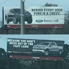 100 Ford Trucks Vs Chevy Trucks South Carolina Vs Dealerships In A Billboard Battle