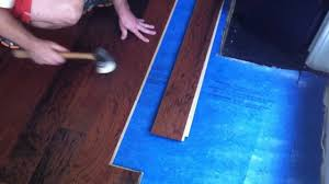 Knee Pads For Hardwood Floor Installers by How To Install Engineered Hardwood Flooring Lock And Fold Youtube