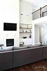 Grey White And Turquoise Living Room by Repose Gray From Sherwin Williams Color Spotlight