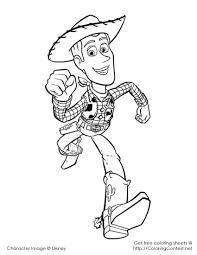 Toy Story Coloring Pages Woody Printable Inside 9 Fleaffiliateinfo