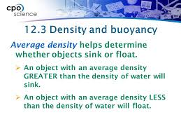 Materials Sink Or Float by 12 3 Buoyancy Is A Force Buoyancy Is A Measure Of The Upward Force