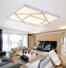 style home 48w led deckenle deckenleuchte voll dimmbar mit fernbedienung für wohnzimmer schlafzimmer kinderzimmer rechteckig weiß
