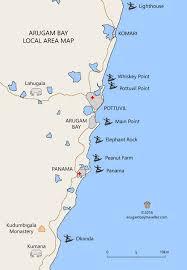 Arugam Bay Surf Spot Area Map