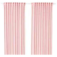 LEJONGAP Curtains 1 pair Light pink 145x250 cm IKEA