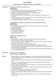 Download Technical Systems Analyst Resume Sample As Image File