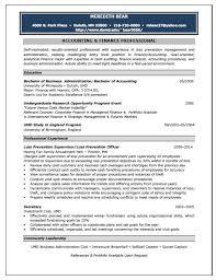 Writing Accounting Resume Sample Free Templates Samples