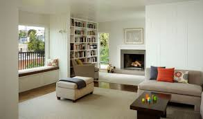 Living Room With Fireplace And Bay Window by Beautiful Open Floor Interior Living Room With Space Saving Bay