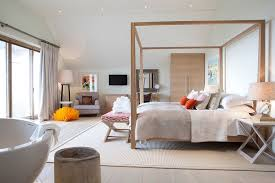 View In Gallery Beautiful Master Bedroom With A Relaxed Scandinavian Style And Pops Of Color Design Cornish