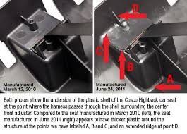 Cosco High Chair Recall 2010 by Cosco Highback Car Seats Should Be Replaced Consumer Reports