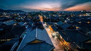 100 Houses In South Korea Wallpaper Jeonju Night Houses Lights 1920x1080 Full