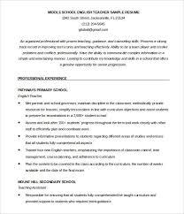 English Resume Pattern Sample