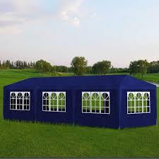 vidaxl tonnelle de jardin tente réception 8 murs bleu 9 x 3 2 5 m