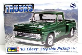 Chevy Small Truck Models Unique 1965 Chevy Stepside Pickup Revell 85 ... Revell Peterbilt 359 Cventional Tractor Semi Truck Plastic Model Free 2017 Ford F150 Raptor Models In Detroit Photo Image Gallery Revell 124 07452 Manschlingmann Hlf 20 Varus 4x4 Kit 125 07402 Kenworth W900 Wrecker Garbage Junior Hobbycraft 1977 Gmc Kit857220 Iveco Stralis Amazoncouk Toys Games Trailer Acdc Limited Edition Gift Set Truck Trailer Amazoncom 41 Chevy Pickup Scale 1980 Jeep Honcho Ice Patrol 7224 Ebay Aerodyne Carmodelkitcom