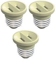 westinghouse 00509 outlet in adapter beige 3 pack