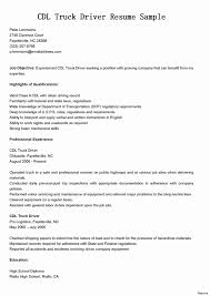 Sample Resume For Truck Driver With No Experience - Talktomartyb
