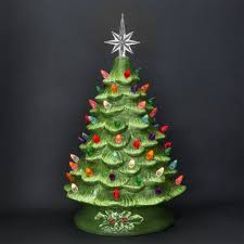 Ceramic Christmas Tree Bulbs And Stars by Pre Lit Ceramic Tabletop Christmas Tree U2013 Best Choice Products