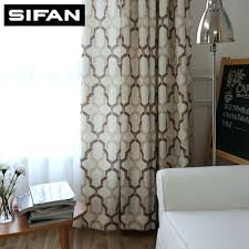 Window Curtains For Living Room Japan Style Geometric Pattern Printed Linen Bedroom