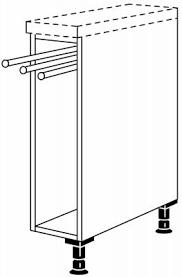 nobilia unterschrankregal 3 teiliger handtuchhalter