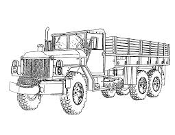 Military Coloring Pages Truck