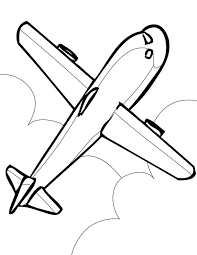Airplane Simple Airline Coloring Page For Kids